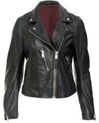 2nd Day | Black Leather Biker Jacket | Lyst