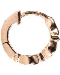 Stone Mini Créole Yasmine 18kt Rose Gold Hoop Earring with White Diamonds - Lyst