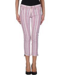 Etoile Isabel Marant Denim Trousers - Lyst