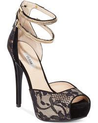 Guess Womens Katrines Platform Sandals - Lyst