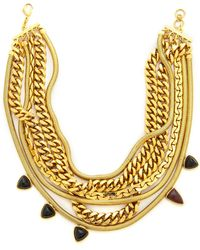 Lizzie Fortunato The Renegade Necklace  Gold Multi - Lyst