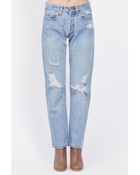 Denim Refinery - Light Wash Boyfriend Jeans - Lyst