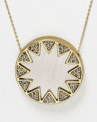 House Of Harlow Earth Metal Medium Sunburst Necklace 28 - Lyst