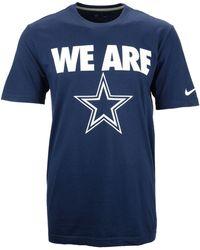 Nike  Dallas Cowboys Team Verbiage T-Shirt - Lyst