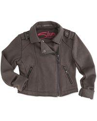 Silver Jeans Co. - Knit Moto Jacket - Lyst