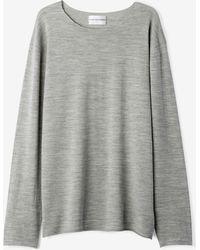 Won Hundred | Lex Loose Sweater Grey Melange | Lyst