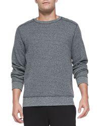 Theory Danen Waffle-knit Shirt - Lyst