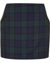 Topshop Black Watch Pelmet Skirt - Lyst