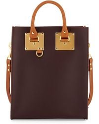 Sophie Hulme Mini Colorblock Leather Tote Bag - Lyst