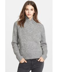 Burberry Brit Stand Collar Sweater - Lyst