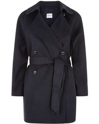 Armani Belted Trench Coat - Lyst