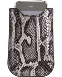 Graphic Image - Faux Python Iphone Case In Grey - Lyst