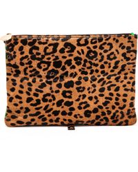 Meli' Melo' Haircalf Daily Lux Pouch  Faded Cheetah - Lyst