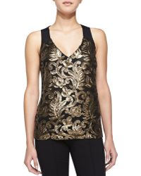 Nanette Lepore Center Stage Sequined Tank - Lyst