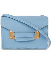 Sophie Hulme Nano Milner Envelope Cross-Body Bag blue - Lyst