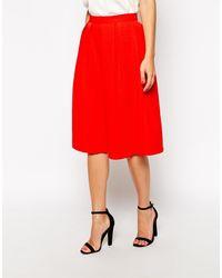 Oasis Jacquard Full Skirt - Lyst