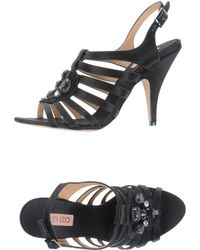 Kenzo Black Highheeled Sandals - Lyst