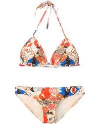 Carven - Floral-Print Bikini - Lyst