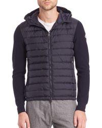 Moncler Puffer Front Jacket blue - Lyst