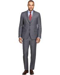 Brooks Brothers Fitzgerald Fit Three Piece Herringbone Suit - Lyst