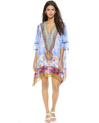Camilla Short Lace Up Caftan - Crossing Paths - Lyst