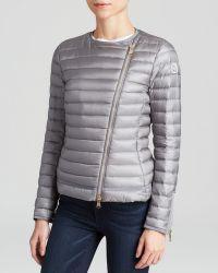Moncler Jacket - Amey Asymmetrical Collarless Down Jacket - Lyst