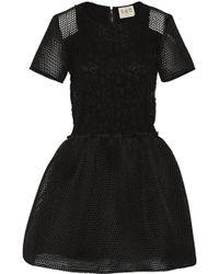 Sea Lace and Honeycomb-mesh Mini Dress - Lyst