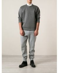 Lanvin Gray Tapered Sweatpants - Lyst