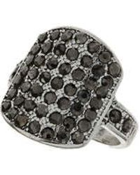 Topshop Jewelled Square Ring brown - Lyst