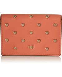 Anya Hindmarch Heartstudded Leather Card Holder - Lyst