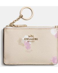 COACH | Mini Id Skinny In Floral Print Coated Canvas | Lyst