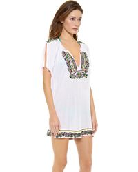 Milly Flamenco Cover Up Tunic - Lyst