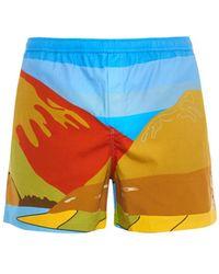 J.W. Anderson Landscape-Print Swim Shorts - Lyst