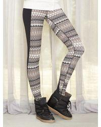 Alo Illusion 3 Legging beige - Lyst