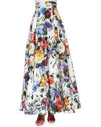 Alice + Olivia Kamal Floral-Print Ball Skirt - Lyst