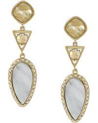 Cole Haan - Golden Lights Semi-precious Stone Drop Earrings - Lyst