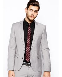 Selected Suit Jacket In Skinny Fit - Lyst
