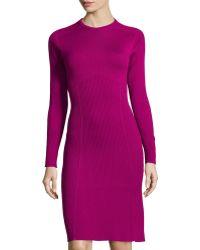 Philosophy di Alberta Ferretti Fit-And-Flare Knit Wool Dress - Lyst