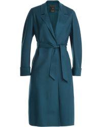 Agnona Cashmere Wrap Coat - Lyst