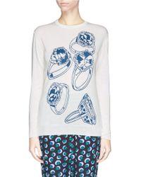 Stella McCartney Ring Cloqué Intarsia Knit Sweater - Lyst