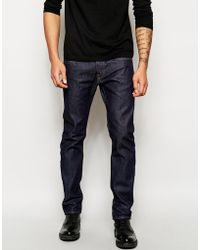 Edwin Jeans Ed-55 Relaxed Tapered Fit Compact Indigo Unwashed - Lyst