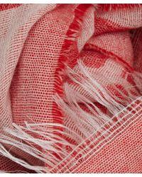 Oska - Red Square Print Cashmere-blend Scarf - Lyst