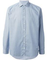 Etro Micro Print Shirt - Lyst