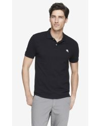 Express Fitted Small Lion Pique Polo - Lyst