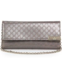 Gucci Dice Shiny Microssima Leather Chain Wallet - Lyst