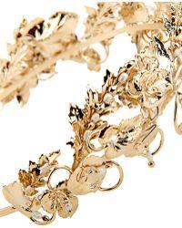 Rosantica By Michela Panero - Maria Gold-Plated Pearl Headband - Lyst