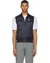 Moncler Navy Quilted Down Gilet - Lyst