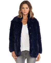 Cheap Monday Furious Faux Fur Jacket - Lyst