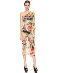 Jean Paul Gaultier One Shoulder Cover Up - Multi - Lyst