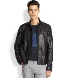 Vince Modern Moto Leather Jacket - Lyst